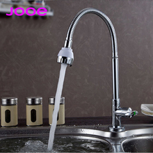 jooe kitchen faucet brass single cold water faucet 360 degree rotating water kitchen tap chrome sink faucet torneira cozinha