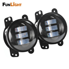 "4"" Led Fog Lamps Bulb Auto Len Projector Headlight Driving Offroad Lamp for Jeep Wrangler Dodge Chrysler Front Bumper Lights"