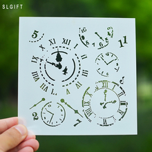 Clock Design Crafts Layering Stencil for Painting Scrapbooking Embossing Gift Paper Cards Template Scrapbooking Tool(China)