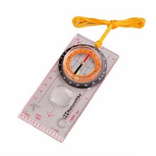 Sales Promotion Transparent compass Direction Guide Orienteering Scouts Army Survival Camping Outdoor Wholesale Hot