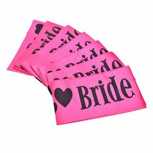 Hen Party Sash Pink Satin Black Write Bride To Be Sash Hens Night Out Decoration Sash Decorative Flowers & Wreaths(China)