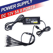 Free Shipping EU US Cord Optional 12V 5A 60W Power Adapter for CCTV Camera Power Supply Charger for Security System