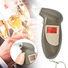 Digital LCD Alcohol Breath Analyzer Breathalyzer Tester Keychain Audible Alert
