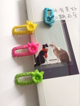 Cute  pet comb clip Teddy vip small dog hairpin pet cat dog hair clip green/yellow/rose/blue 10pcs