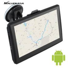 MALUOKASA 5inch Auto Android Navigator Car GPS Navigation Positioning Voice Prompt built-in 4G Memory 1080P HD GPS Car-detector(China)