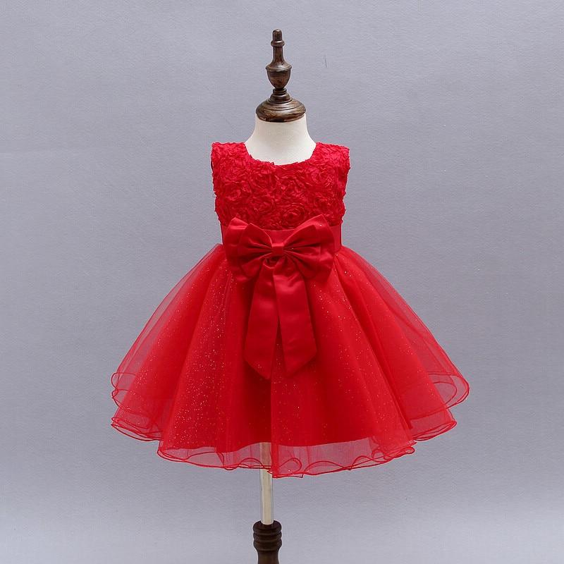 2016Wedding Gowns Kids Formal Party Christening Communion Flower Girl Dresses Infant Pageant Dresses for Little Girls 80-130cm<br><br>Aliexpress