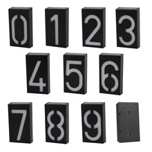 New Arrival House Door Address Plaque Digit LED Solar Panel Wall Light Solar Powered 6 LEDS Switch Wall Lamp For Garden Hall(China)