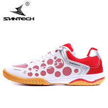 SUNTECH Men  Table Tennis Shoes Indoor Training Breathable Anti-Slippery Lace holder Hard-Wearing Sneakers Sport Shoes