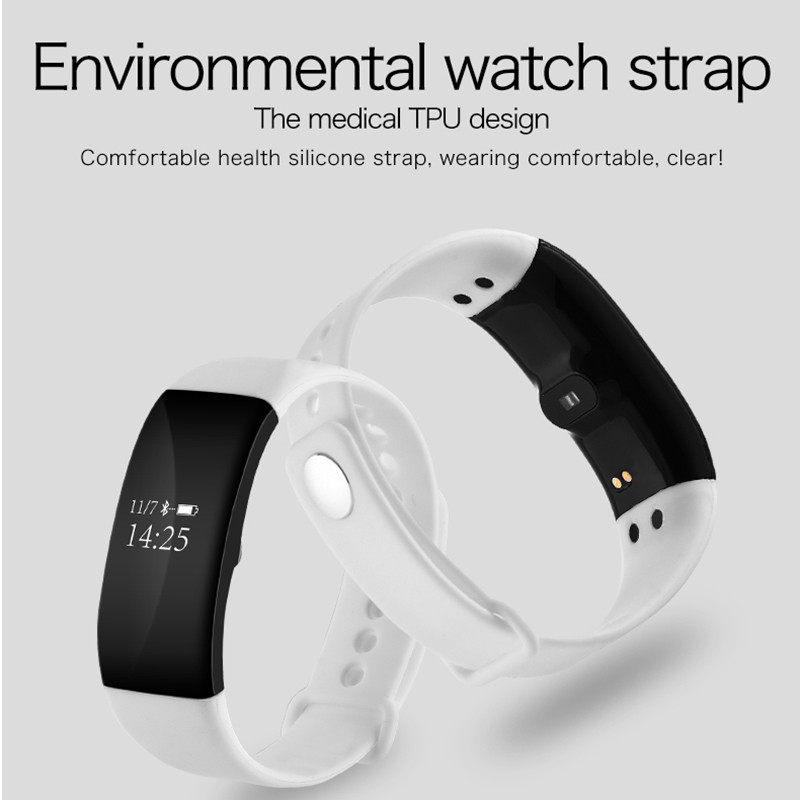 V66 Smart Wristband Professional IP67 Waterproof Smart Heart Rate Bracelet Fitness Tracker Smartband For IOS Android