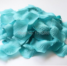 600PCS Teal Blue Silk Rose Petals Wedding Centerpieces Party Decoration Confetti Bridal Shower Party Favor(China)