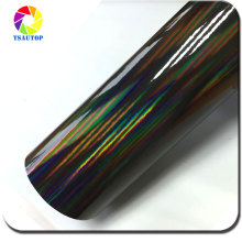 1.42*20M Air free bubbles Rainbow Laser Chrome Vinyl chrome wrap vinyl film car body sticker Grey