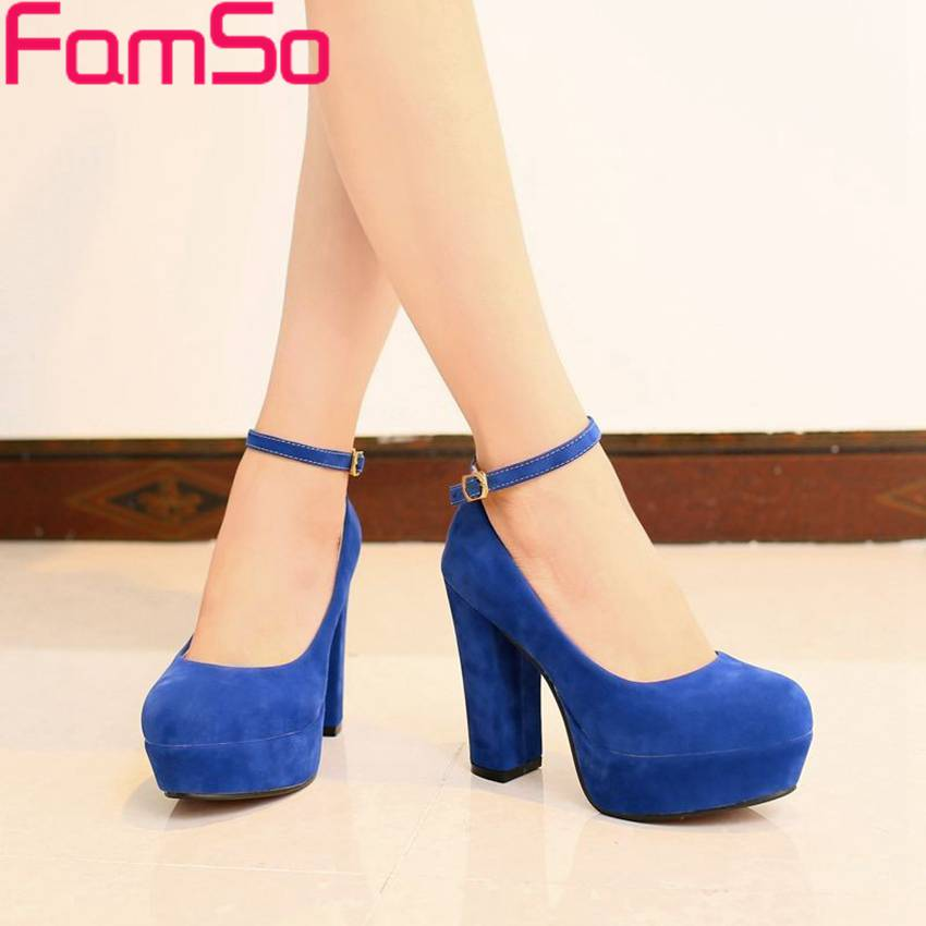Plus Size34-43 2017 New Shoes Women platforms pumps High thick Heels Shoes Spring Autumn Low Europe  Womens Pumps PS21<br><br>Aliexpress