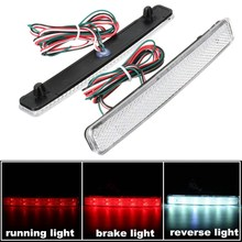 2x 24 LED Auto Rear Reflectors Bumper Tail Fog Lamp Brake Stop Night Running Lights Driving Reverse Light For VW/T5 Transporter