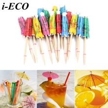 50PCS Handmade Cake Topper Picks Umbrella Cocktail Parasols Drinks Picks Bar Party Supplies Kids Birthday/Wedding Decoration
