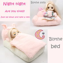 Fortune Days Blyth doll Cutie Pinky Pig Sofa and Bed Blyth Furniture have a good rest for your doll collection Factory Blyth(China)