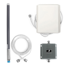 Cell phone signal booster 850/1900MHz 65dB gain antenna with inside and outside antennas