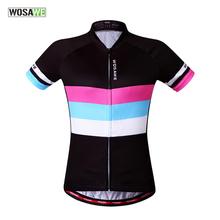 WOSAWE Women Cycling Jersey Breathable Short Sleeve T-shirt Tops Outdoor Sports MTB Road Bike Bicycle Cycle Clothing Sportswear