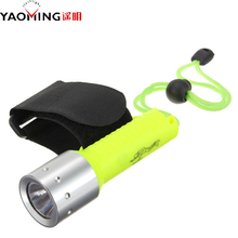 LED Flashlight T6 Diving Torches  2000LM CREE XML-T6 Waterproof underwater Dive Torch Lamp light 50m Use 1x18650 battery+1x Box