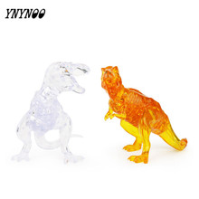 YNYNOO New Arrival 3D Dinosaur Crystal Puzzle Animal Assembled Model DIY Educational Toys Kid's Best Gifts Home Decoration Toys(China)