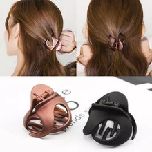 New Korean large Hair Claws acrylic Geometric modelling crab claw clip Clamp Accessory For women hair clips ponytail holder