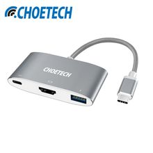 CHOETECH USB 3.1 USB C to HDMI Adapter 4K USB-C Digital AV Multiport Adapter with Power Delivery for MacBook 2016 for Samsung S8(China)