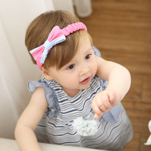 2017 Autumn New Kids Girls Bow Hairband Rose White 2 Colors Bowknot Children Headband Hair Ornaments Girl Vestiedos Accessoreis