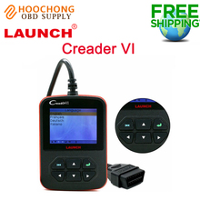 100% Original Launch Creader VI Auto Code Reader Scanner Creader 6 OBD2 Code Scanner with Multi-Languages Free shipping(China)