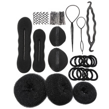 Hairpins Hair Clips for Women Bun Maker Pads Roller Braids Hair Accessories Twist Magic French Sponge Styling Tools Set FS2040(China)