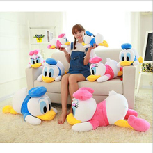 Hot 36cm Children's Plush Toy Donald Duck Donald Duck Doll lying Edition   & Minnie Christmas Gifts Wholesale