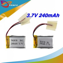 3pcs 240mAh 30c LiPo 3.7V Battery For 6020 Syma S107 S108 S109 S026 rc Helicopter rc quadcopter