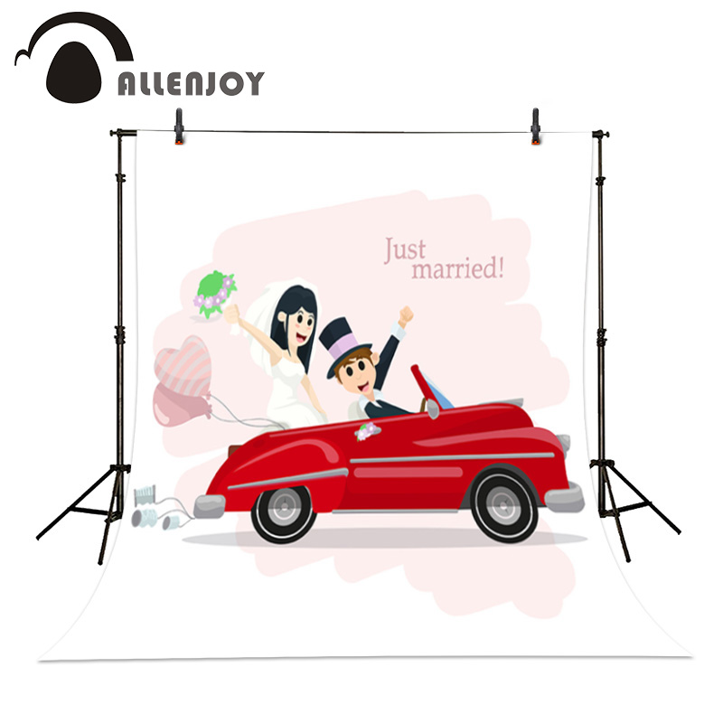 Allenjoy photography backdrops wedding car Bride and groom romantic get marriage background custom size<br><br>Aliexpress