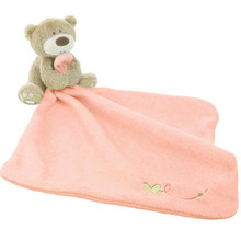 Saliva Towel Cute Teddy Bear Plush Comforter Infant Towel Super Soft Baby Cute Cartoon Soothe Toy Newborn Gift To Educational(China)
