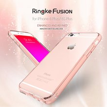 Ringke Fusion Case For iPhone 6S Plus / 6 Plus / 6s / 6 Clear Back Panel with Dust Plug Military Grade Drop Proof Cases(China)