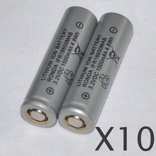 10pcs 3.2v IFR 18650 LiFePO4 battery 1500mah rechargeable lithium ion cell for Electric bike e-bike bus use solar light