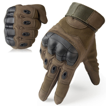 Touch Screen Tactical Military Army Paintball Airsoft Shooting Anti-Skid Workout Shooting Rubber Hard Knuckle Full Finger Gloves(China)