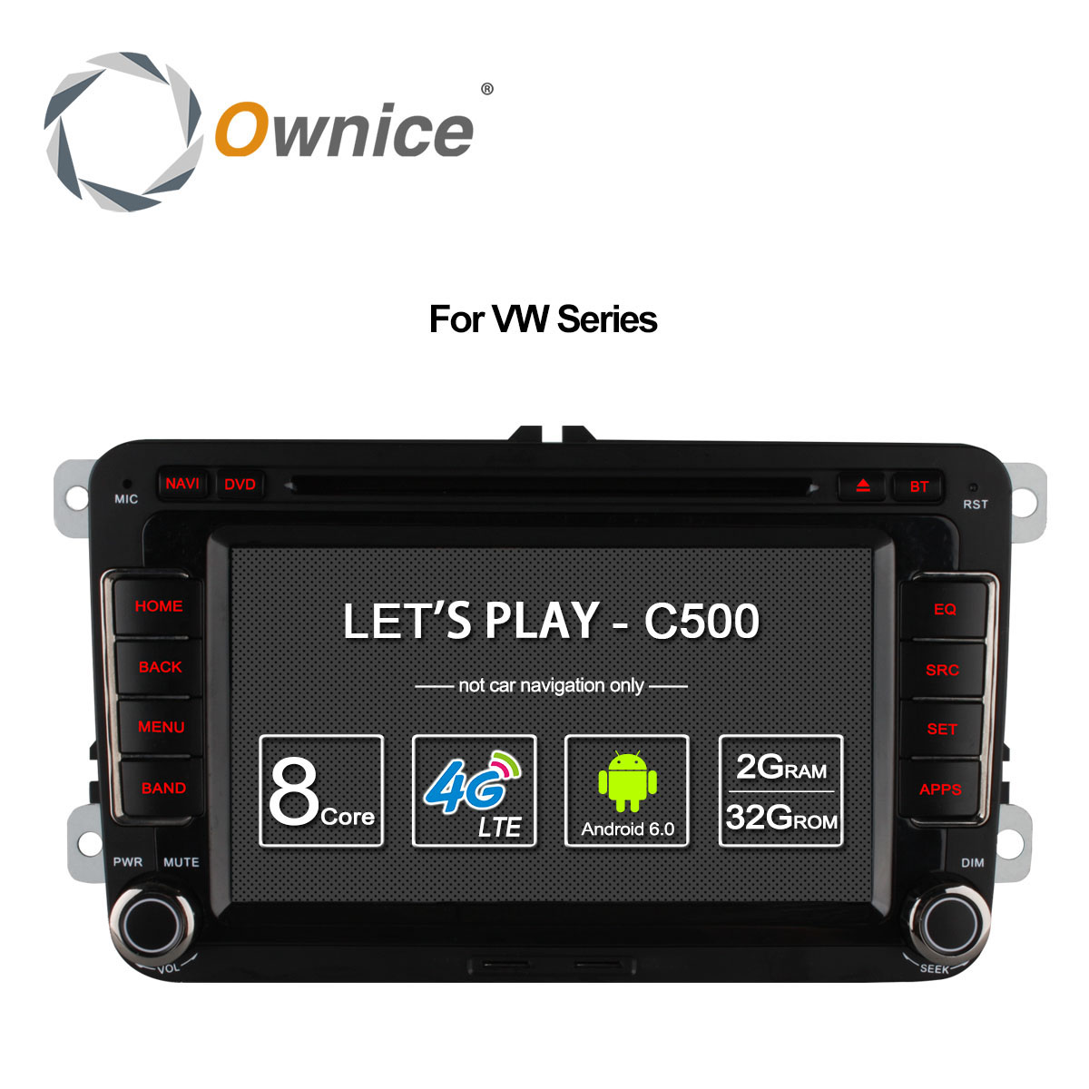 Ownice Android 6.0 8 Core 32G ROM Car DVD Player Volkswagen Passat POLO GOLF Skoda Seat Leon GPS Navi 4G LTE Network