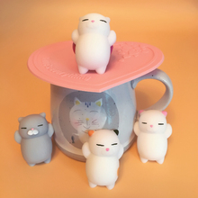 10pcs/lot Dropshipping Cute Mochi Squishy Cat Squeeze Healing Fun Kids Kawaii kids Stress Reliever Decor squishy animal Toys