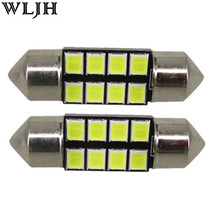 WLJH 2pcs Led Pure White 31MM 8 SMD 2835 Festoon Car Dome Map Interior LED Light Lamp DE3175 12v Automobiles Interior Lights(China)