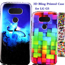 Luxury 3D Glitter Phone Cases sFor LG G5 H830 H840 H850 Ultra thin Bling Cartoon Soft Silicone TPU Back Cover For LG G5 Funda