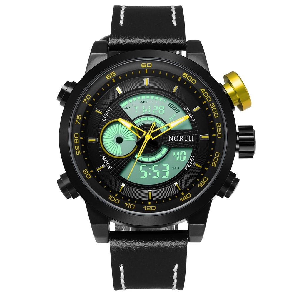 Fashion Men Watches North Brand Sport Watch Multifunction Alarm Clock Japan Double Movement Noctilucent Outdoor Wristwatch<br><br>Aliexpress