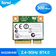 Dual Band Broadcom BCM943228HMB 802.11b/g/n Mini pci-e Wifi Card 2.4Ghz 5Ghz Wireless-N WiFi Bluetooth Adapter For hp laptop