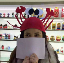 Christmas Decorations Lovely Lobster Crab Hat Plush Christmas Home Party Holiday Fancy Hat Headgear Christmas Decor YX#(China)
