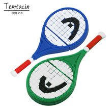Pen Drive Tennis Racket 4G 8G 16G 32G USB 2.0 Flash Drive Memory Card Stick Disk Storage Device PenDrive Christmas Gift