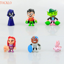 5pcs/lot 5cm Teen Titans GO Action Figure Model Collection Toys Come with Opp Bag