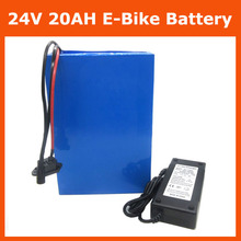 Free customs duty 24 V Battery 24V Electric Bike Battery pack 24V 20AH lithium battery with 30A BMS 29.4V 3A charger(China)