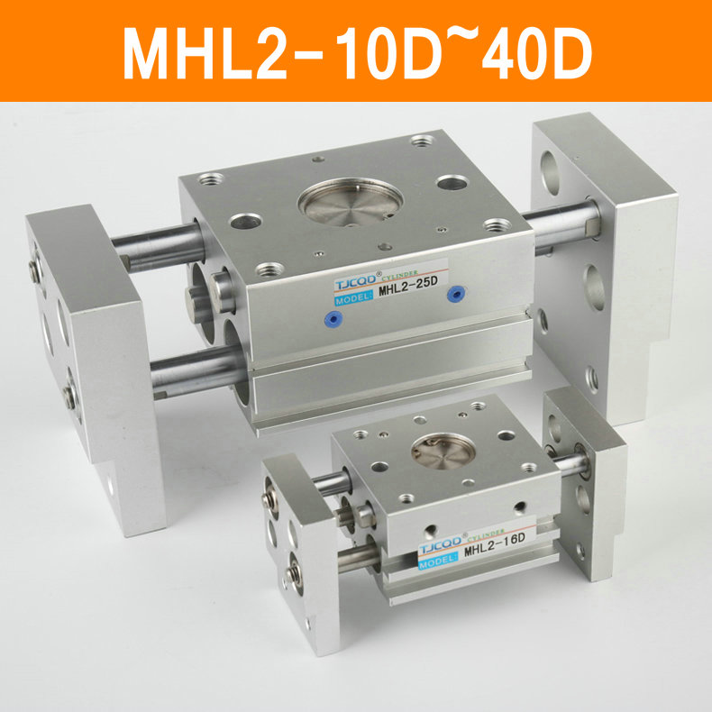 MHL2 10D 16D 20D 25D 32D 40D Double Acting Pneumatic Gripper Wide Type Air Gripper Parallel Cylinder Al Clamps Bore 10-40mm<br>