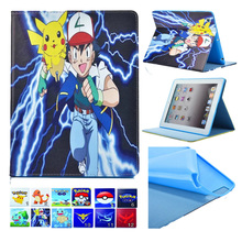 Folio Flip PU Leather Stand Cover Cases for iPad 2 3 4 9.7 inch Tablet TPU Back Skin Cute Carton Kid Case for iPad 4 3 2 Funda