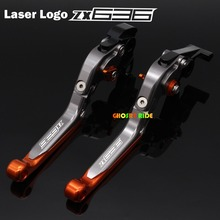 For Kawasaki Ninja ZX636R 2000-2004 CNC Folding Extendable Motorcycle Brake Clutch Levers Laser Logo(ZX 636)
