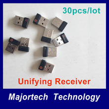 30pcs/lot Genuine 6 Channel Unifying USB Wireless Receiver Dongle for Mouse Keyboard M215 M235 M325 M545 M705 etc