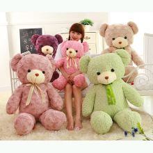 Stuffed teddy bear large baby doll The wedding gift Teddy bear plush toys 80 cm / 100 cm 4 color teddy bear plush toys free ship